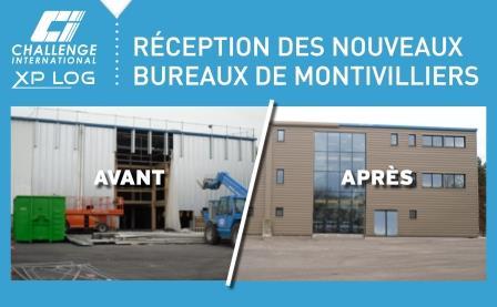 Nouveaux bureaux à Montivilliers pour XP LOG